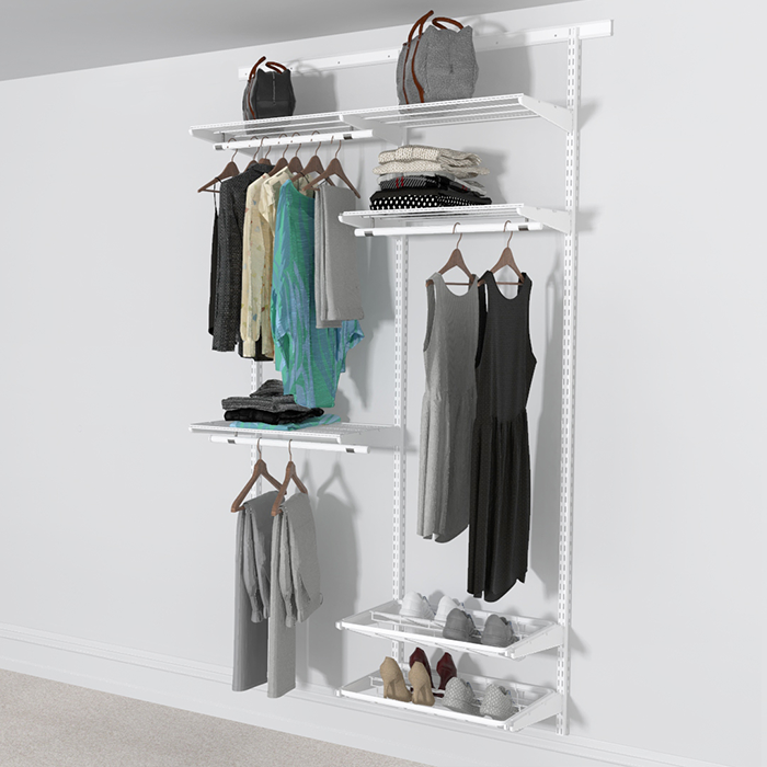 Open Wardrobe System with Shoe Storage 124cm (W) Pull Out Shoe Rack
