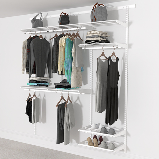 Open Wardrobe System with Shoe Storage 185cm (W) Pull Out Shoe Rack