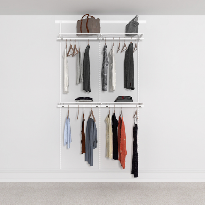 Open Wardrobe System 124cm (W) - Classic White -- TEST NOT FOR SALE
