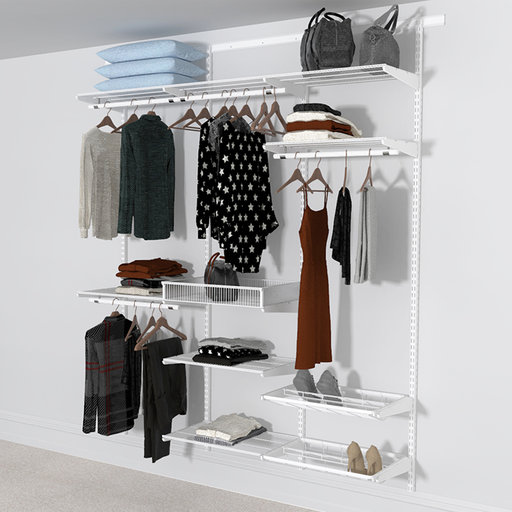 Open Wardrobe System with Shoe Storage and Extra Shelves 185cm (W) Pull Out Shoe Rack