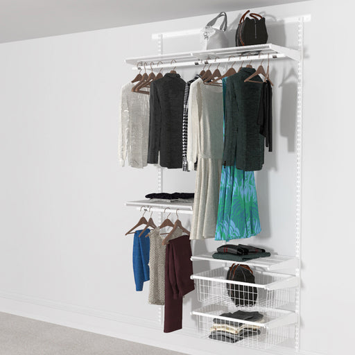 Open Wardrobe System with 2x Baskets 124cm (W)