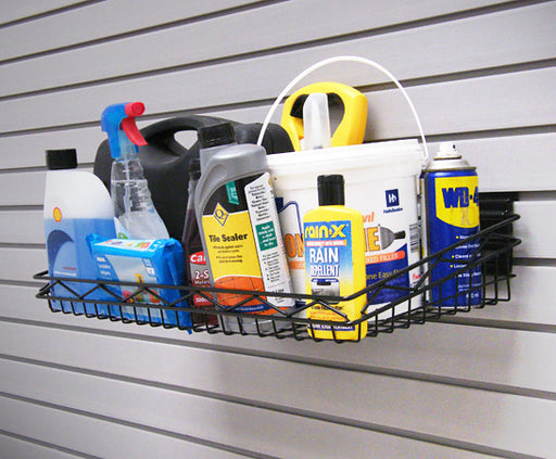 "Large 24"" x 12"" Basket holding many large items such as cans of paint and bottle sprays"