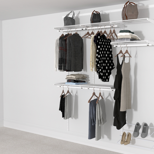 Open Wardrobe System with Shoe Storage 185cm (W) Static Shoe Shelf