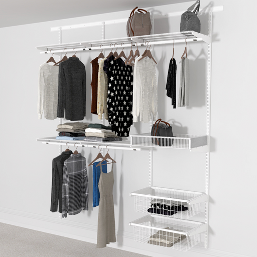 Open Wardrobe System with 2x Baskets 185cm (W)