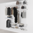 185cm Wide Open Wardrobe System with Shoe Storage & Baskets