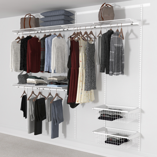 Open Wardrobe System with 2x Baskets 246cm (W)