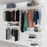 Open Wardrobe System with 3x Baskets 246cm (W)