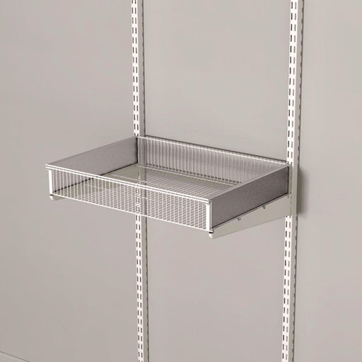 Ventilated Basket Shelf Including Dividers Classic White