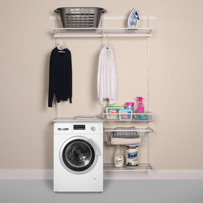 Laundry and Utility Organisation Kit 3 in Classic White