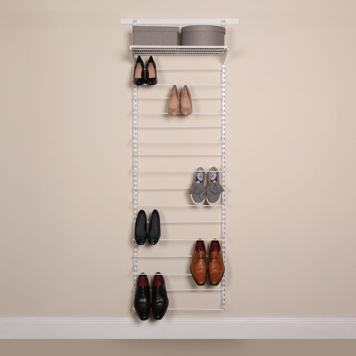 Shoe Storage Rack 25 in Classic White