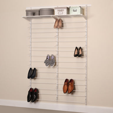 Shoe Storage Rack 50 in Classic White