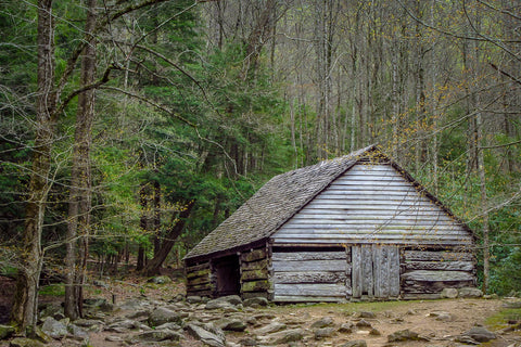 "Noah ""Bud"" Ogle Barn on the Roaring Fork Nature Trail in the Smoky Mountains"