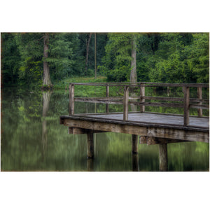 lake dock in mississippi wall art