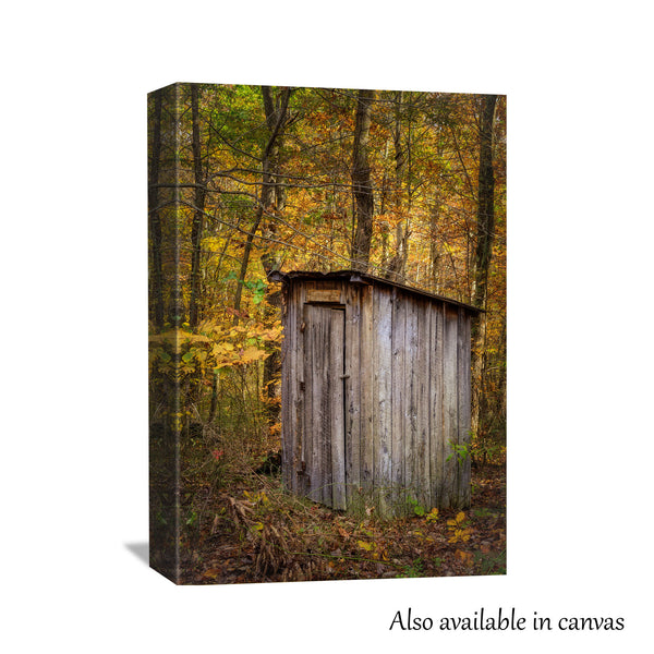 Autumn Outhouse Print