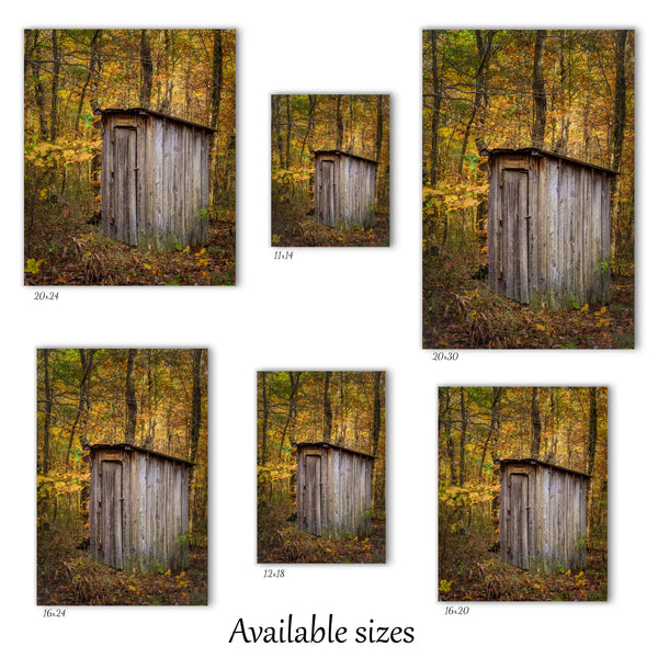 Autumn Outhouse Canvas Wall Decor