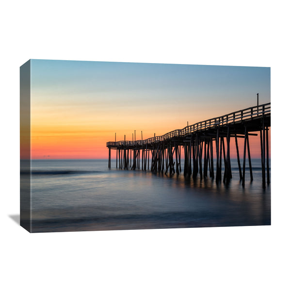 canvas wall art of avon pier in the outer banks