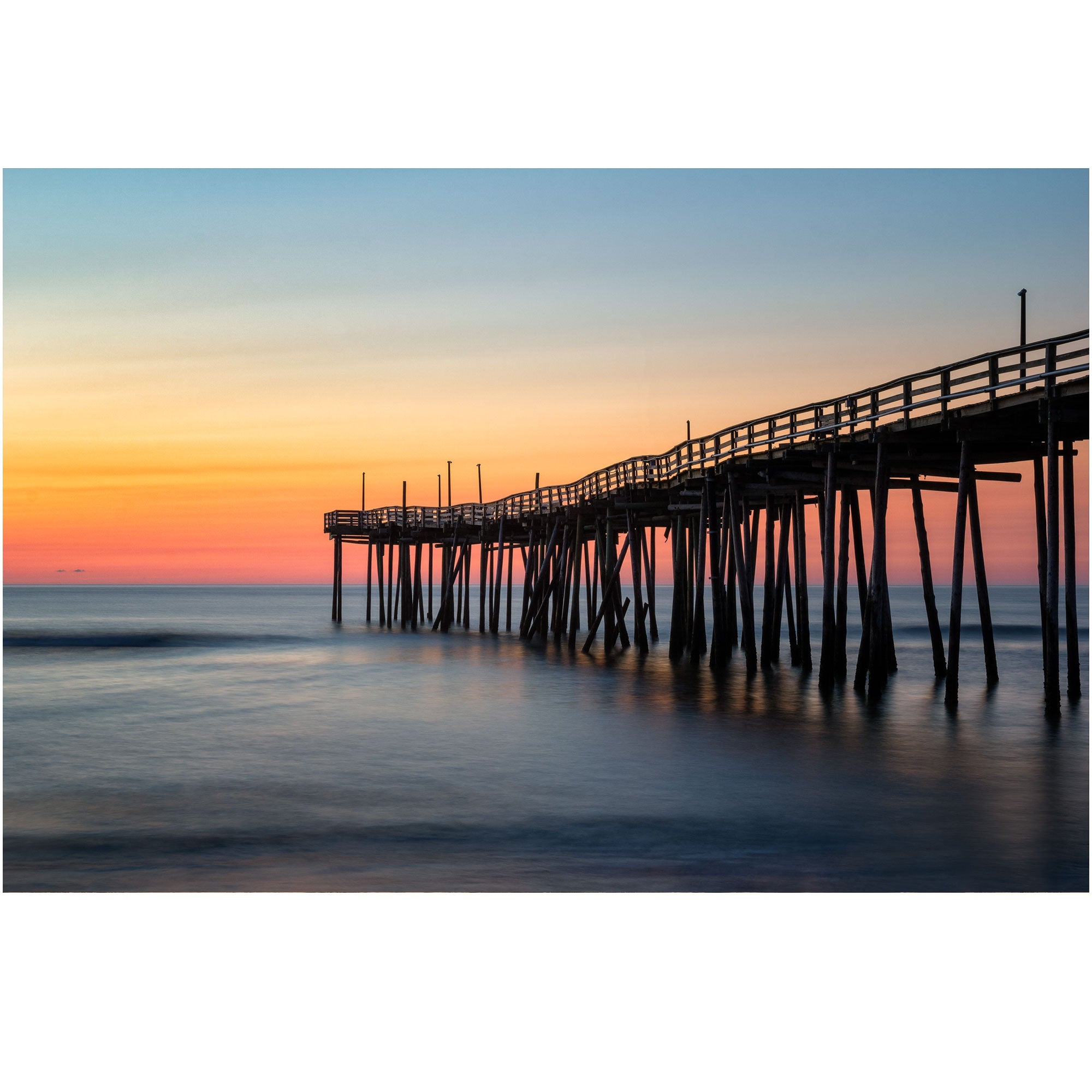 daybreak at avon pier in the outer banks of north carolina