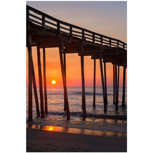 avon pier sunrise in the outer banks