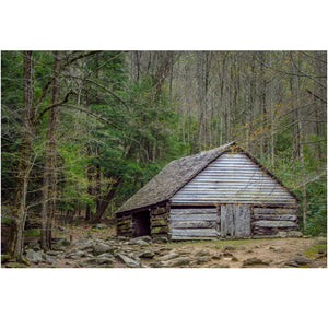 Canvas print of a Smoky Mountain barn