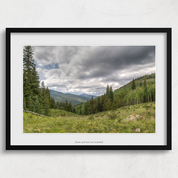 wall art print of buffalo peaks in colorado