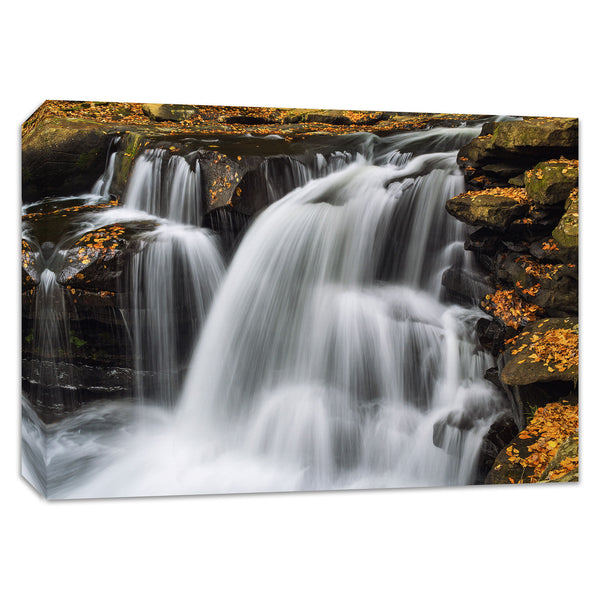 Dunloup Creek Waterfalls West Virginia Canvas