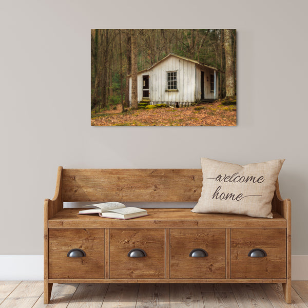 The Great Smoky Mountains National Park Elkmont cottage canvas wall art
