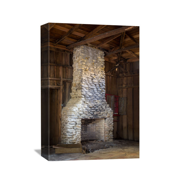 canvas wall art of a chimney in elkmont tennessee