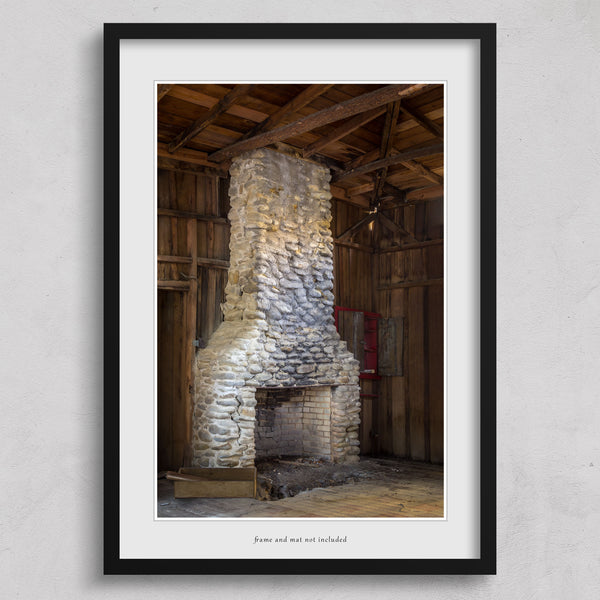 Elkmont, Smoky Mountains abandoned cottage fireplace print