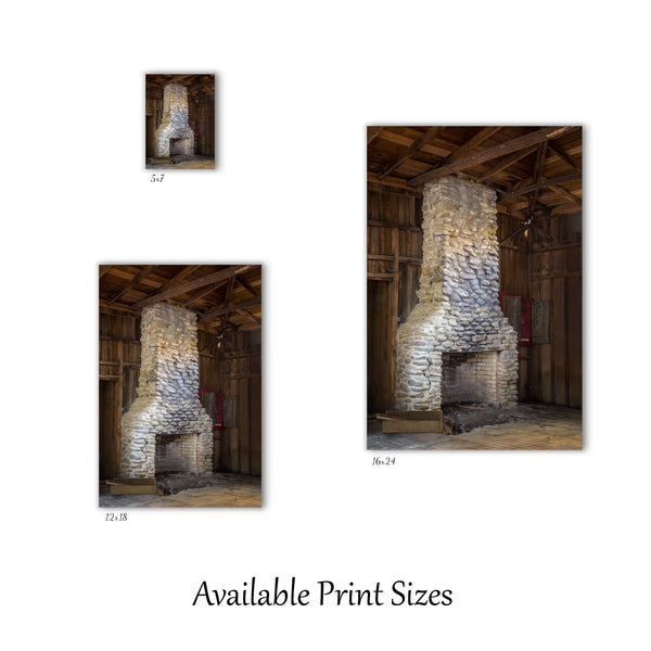 Elkmont Fireplace Print