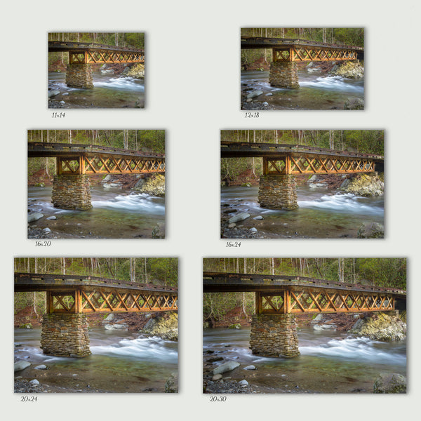 Elkmont Truss Bridge Canvas