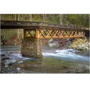 wall art print of a bridge in the great smoky mountains national park