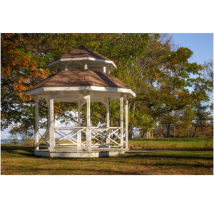Fall at the gazebo in Evangola State Park