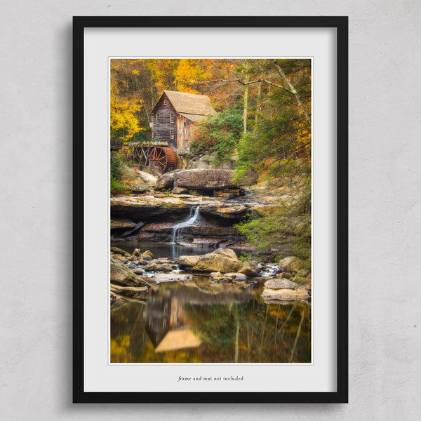 Glade Creek Grist Mill photography wall art print