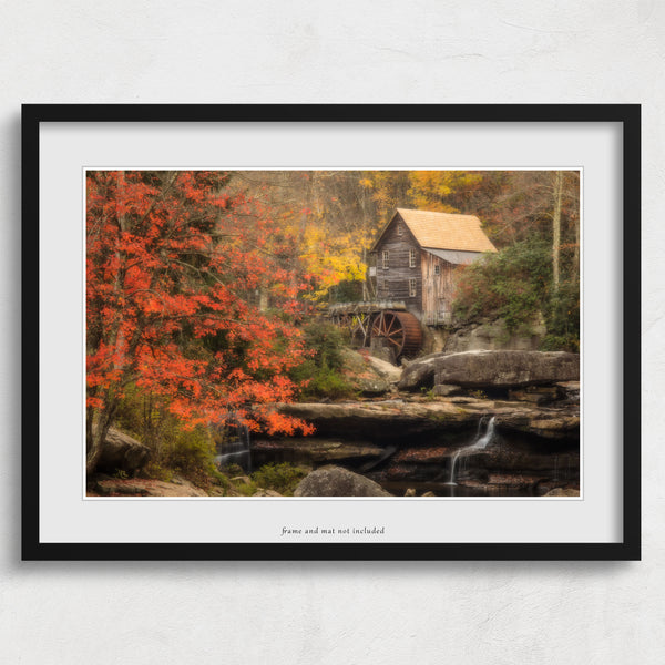 Glade Creek Grist Mill II Print