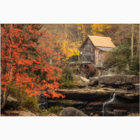 west virginia photography print of glade creek grist mill