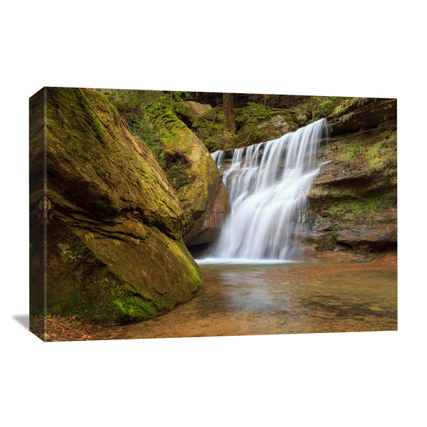 hidden falls at hocking hills state park ohio canvas wall art