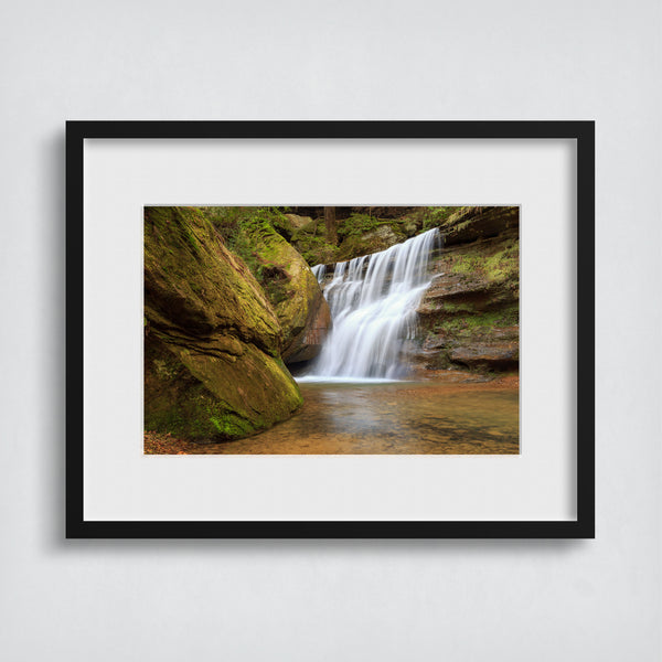 waterfall wall art picture of  hocking hills ohio