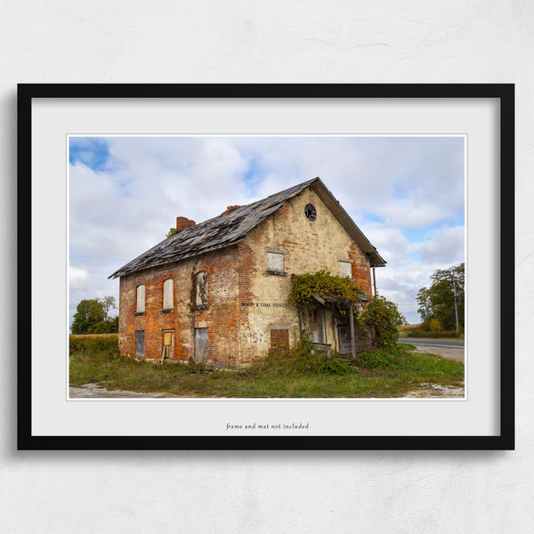 abandoned architecture photography print