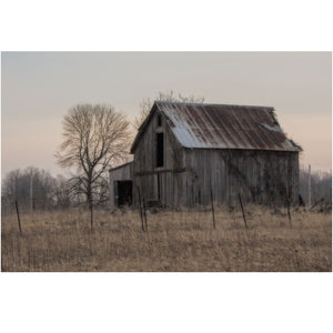 Wall art print of an Old barn in Ohio