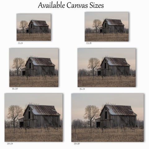 Ohio barn canvas wrap