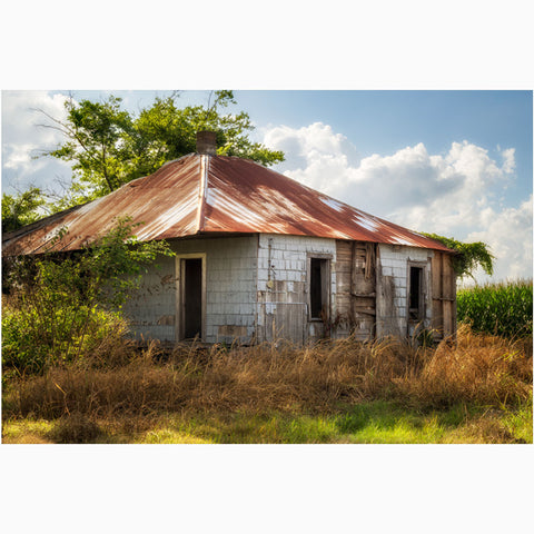 photography wall art of sharecropper cottage in mississippi