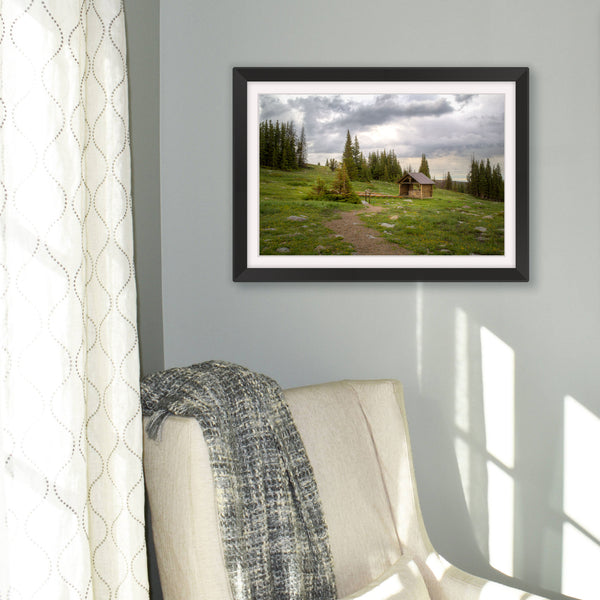 St Albans Chapel photography print from the Snowy Range in Wyoming