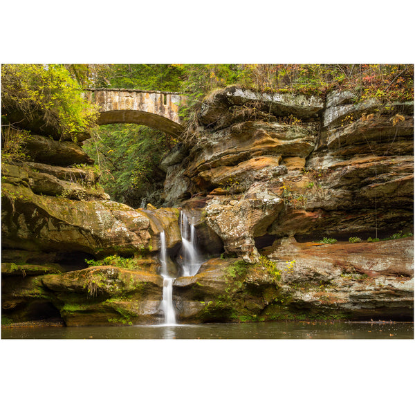 waterfall photography of upper falls at hocking hills state park in ohio