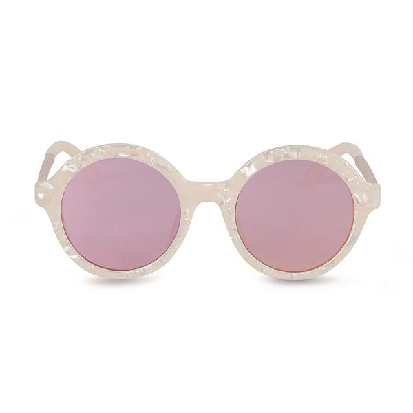 Mind Bomb Beige Mirror Sunglasses