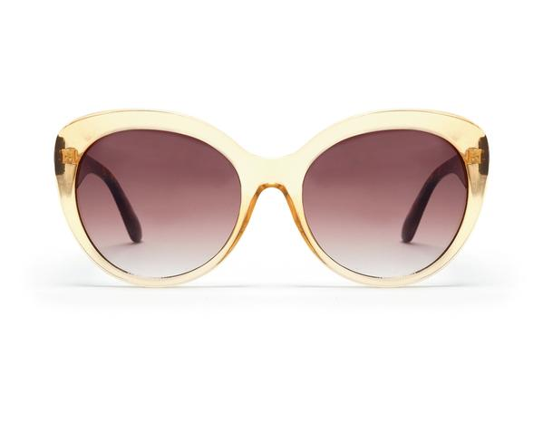 Como Clear Camel Sunglasses