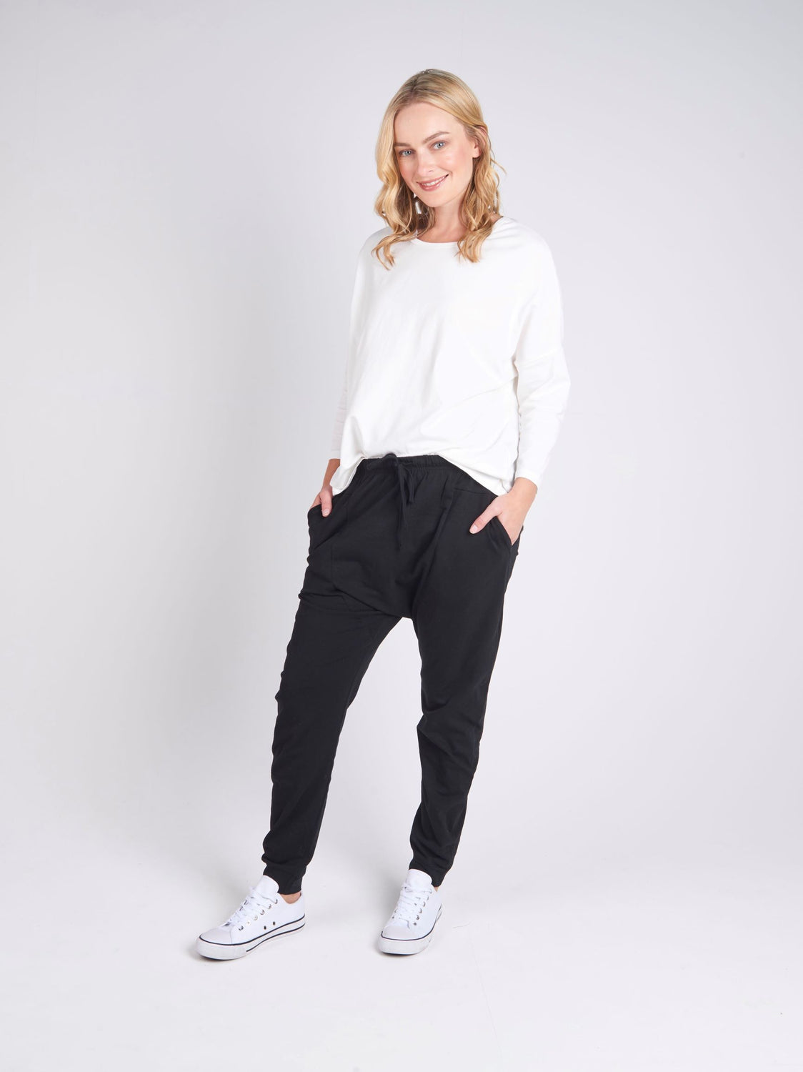 Drop Crotch Pant - Black