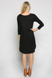Adrift Swing Dress Black