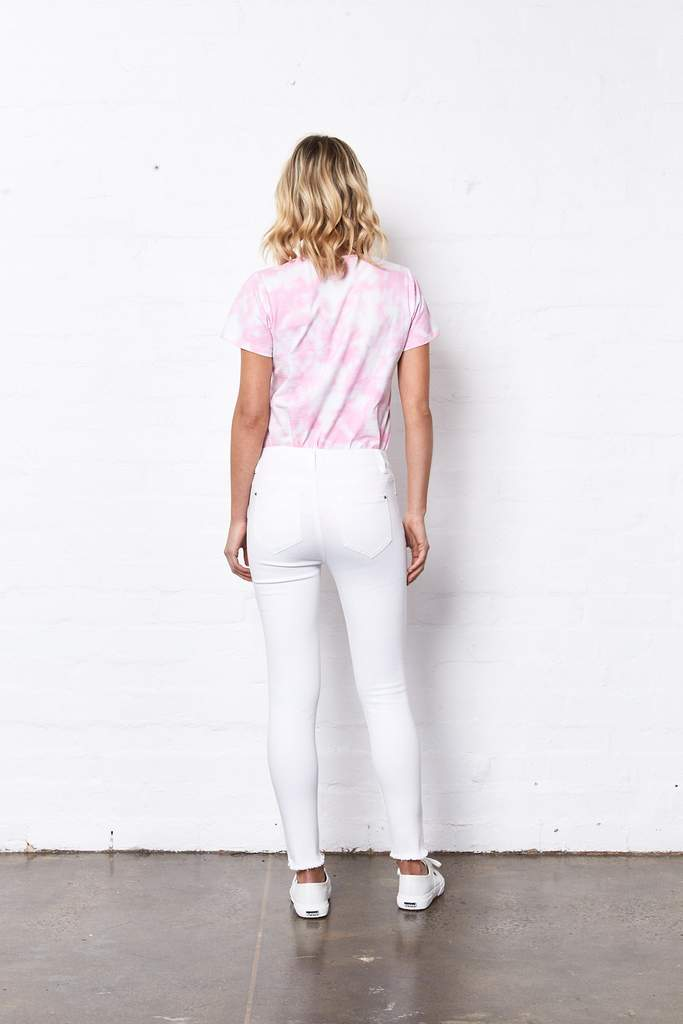 Lucia Jeans by Saint Rose - White