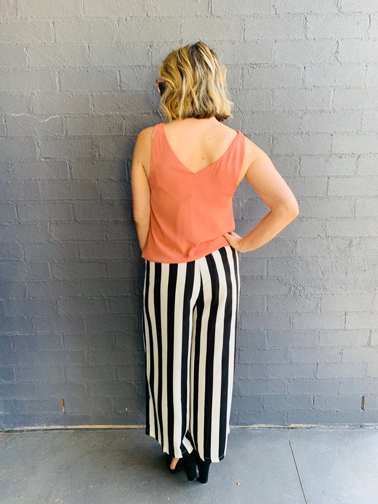 The Ana Striped Pant Suit - Pant