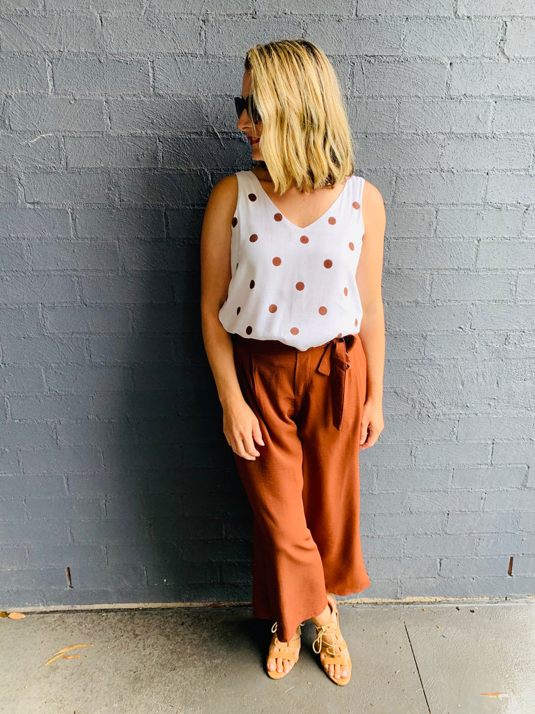 Rust Culotte Pants
